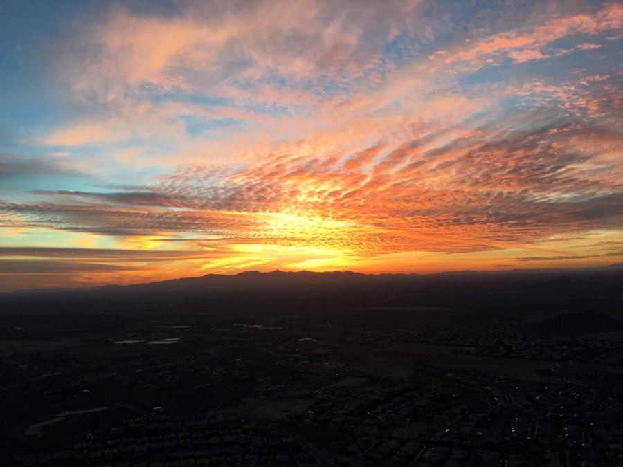 Sunset from Hot Air Balloon