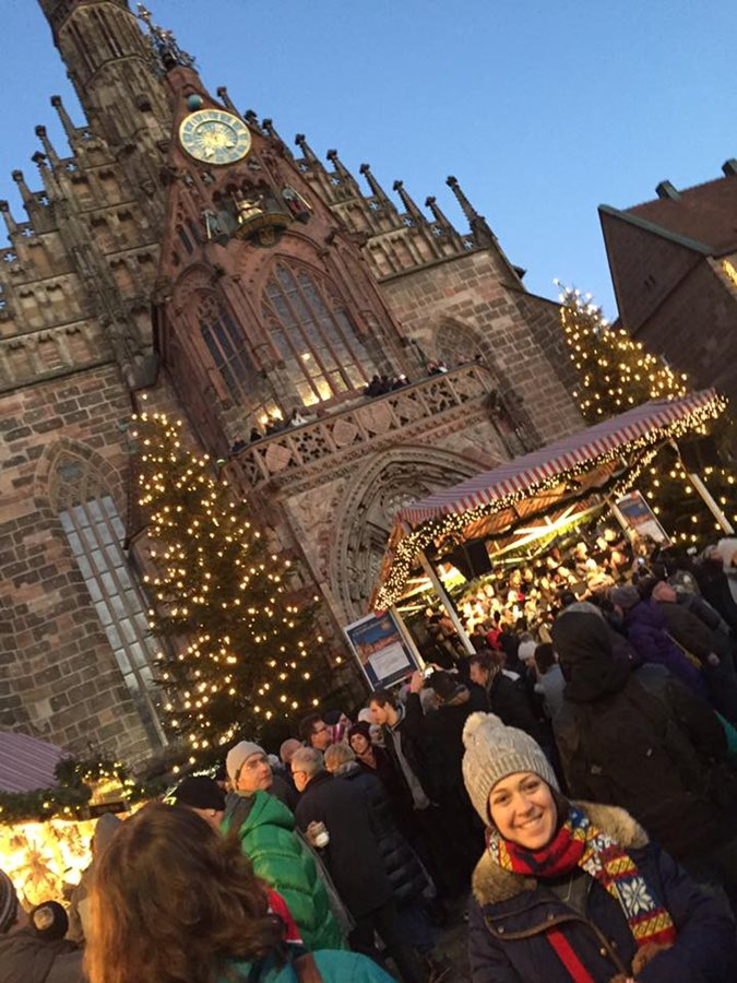 At the beautiful Christmas Market in Nuremberg