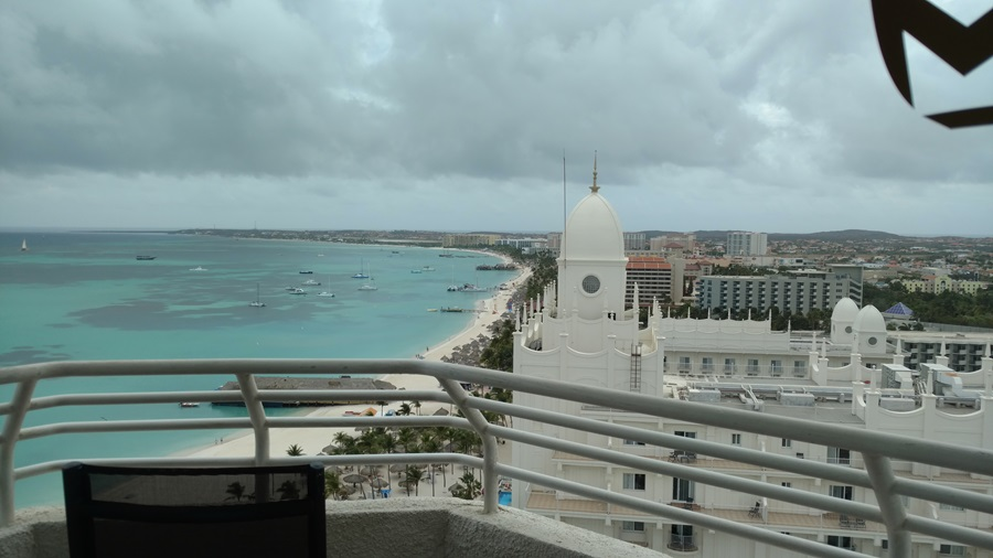 Great view of Palm Beach & Riu Palace Aruba