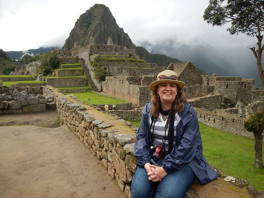 Laurie at Machu Picchu