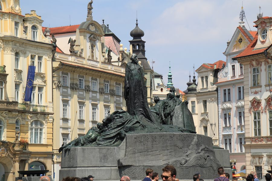 A monument in the old Plaza - Prague