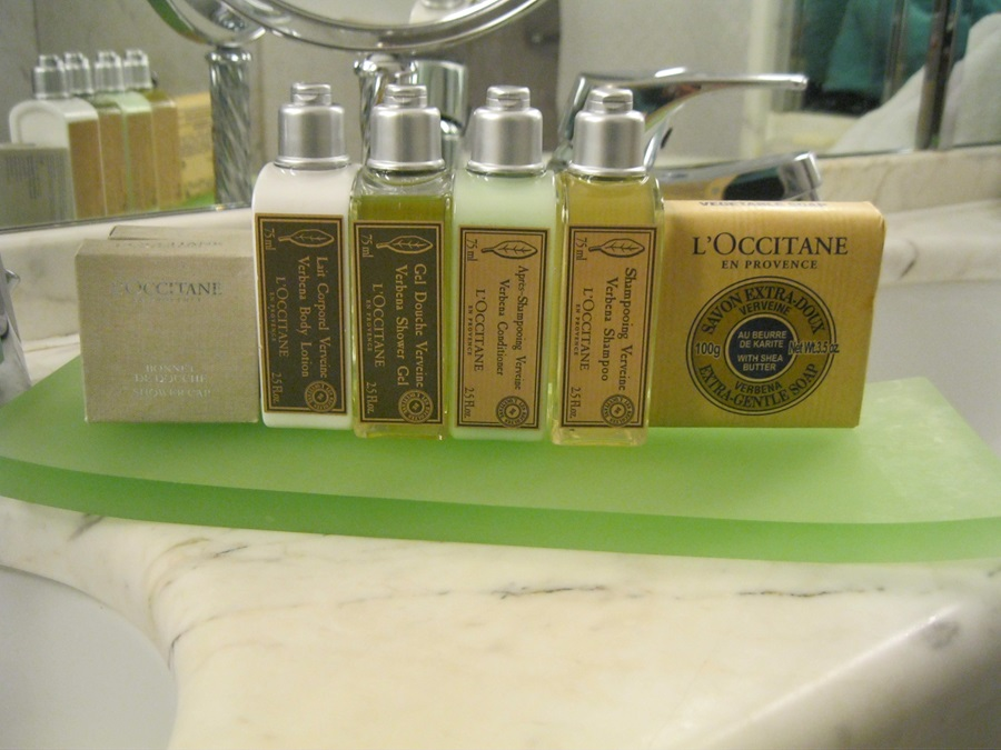 L'Occitane amenities on board