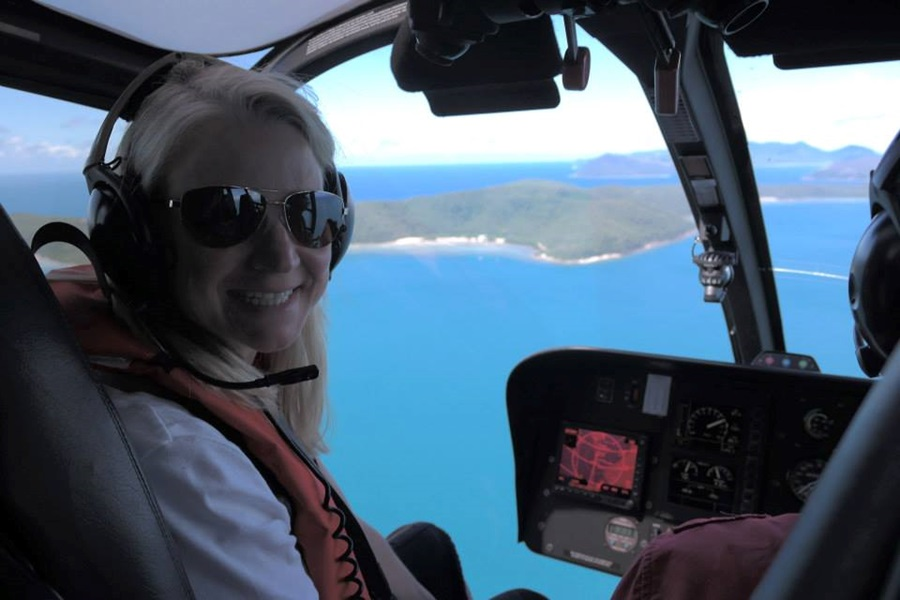 Heli trip over the Great Barrier Reef