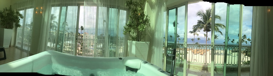View from the relaxing Iberostar Grand spa!