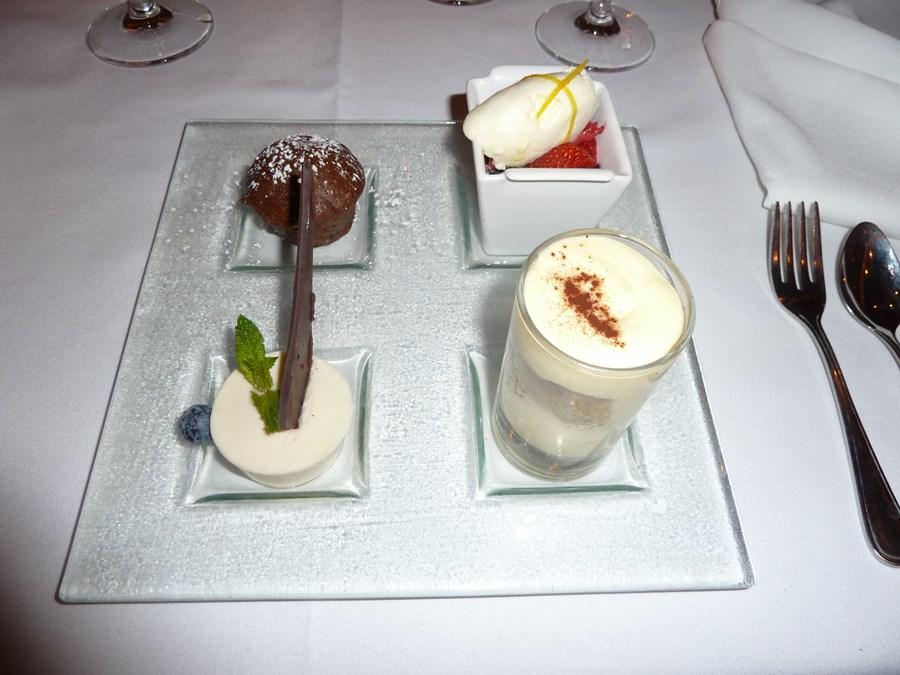 Yummy desserts onboard!