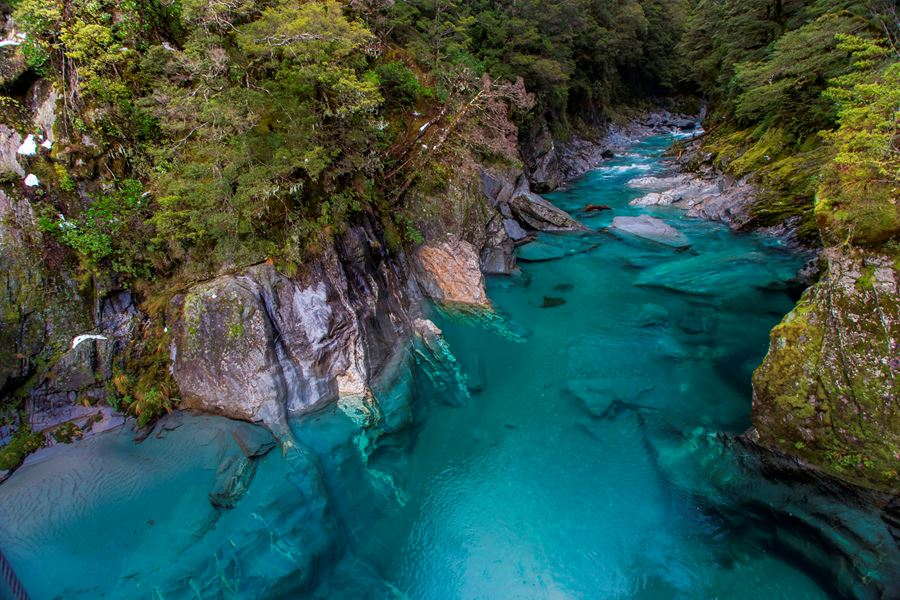 Tourism New Zealand - Blue Pools at Haast Pass
