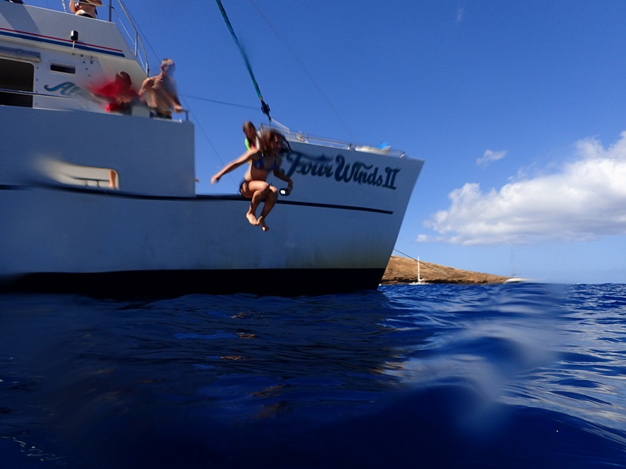 Kids loved jumping off the boat at Molokini Crater