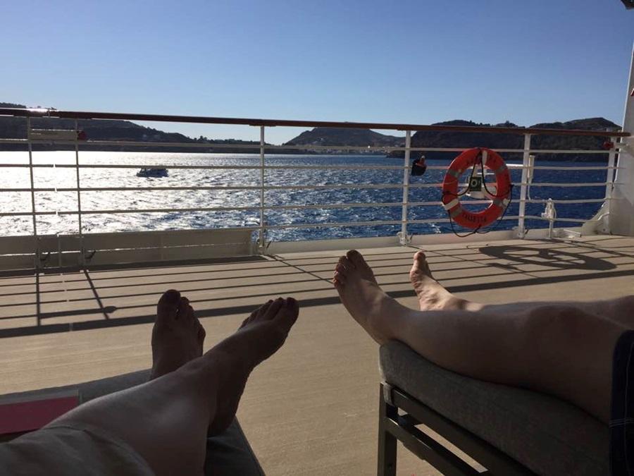 Relaxing on board Azamara Journey