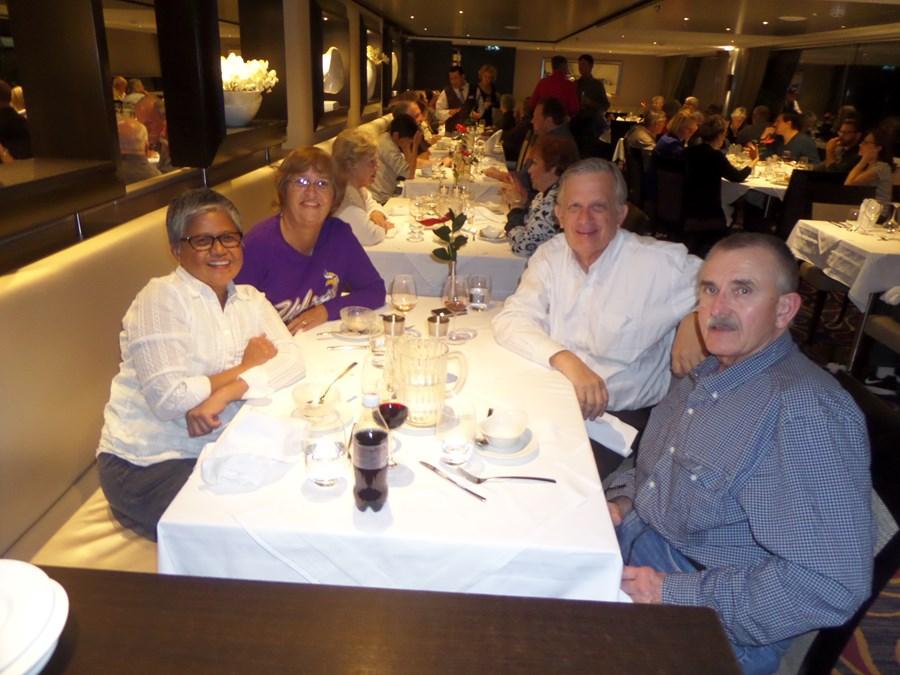 Dinner aboard Avalon Expression