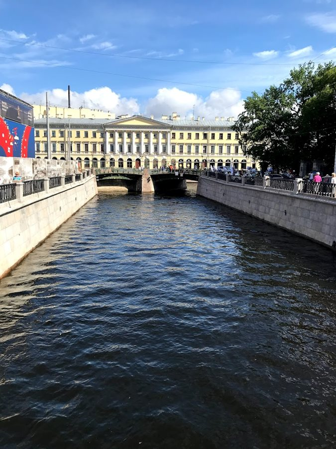 One of the many canals in St. Petersburg.