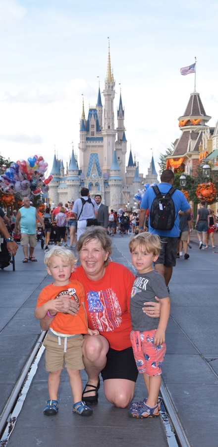Magic Kingdom with my youngest grandsons