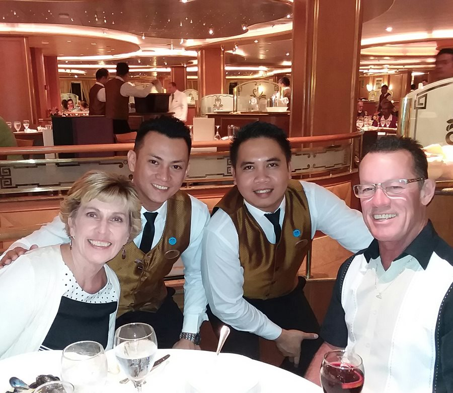 Our wonderful servers in the main dining room