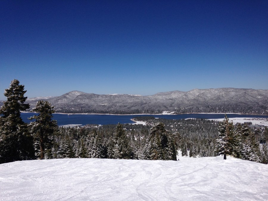 View from the mountains at Big Bear