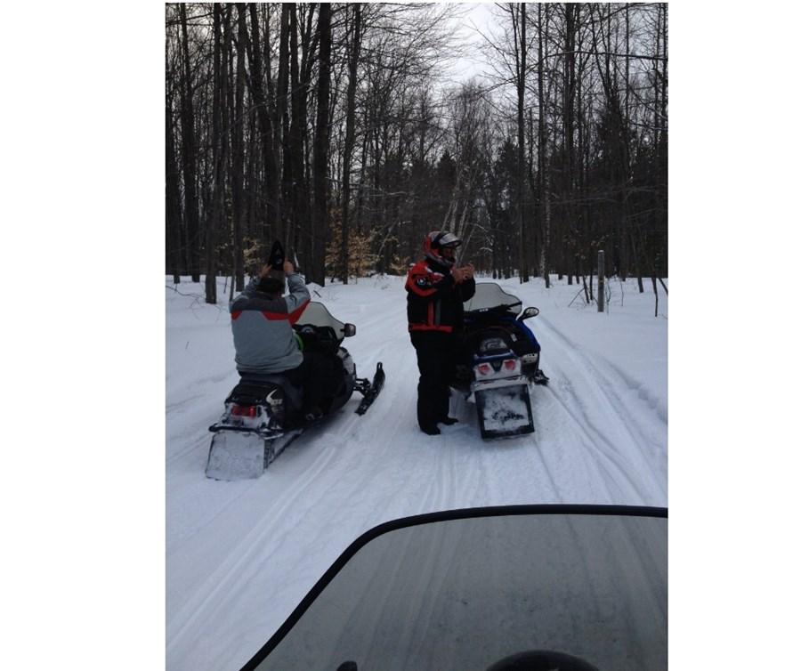 Snowmobile fun!