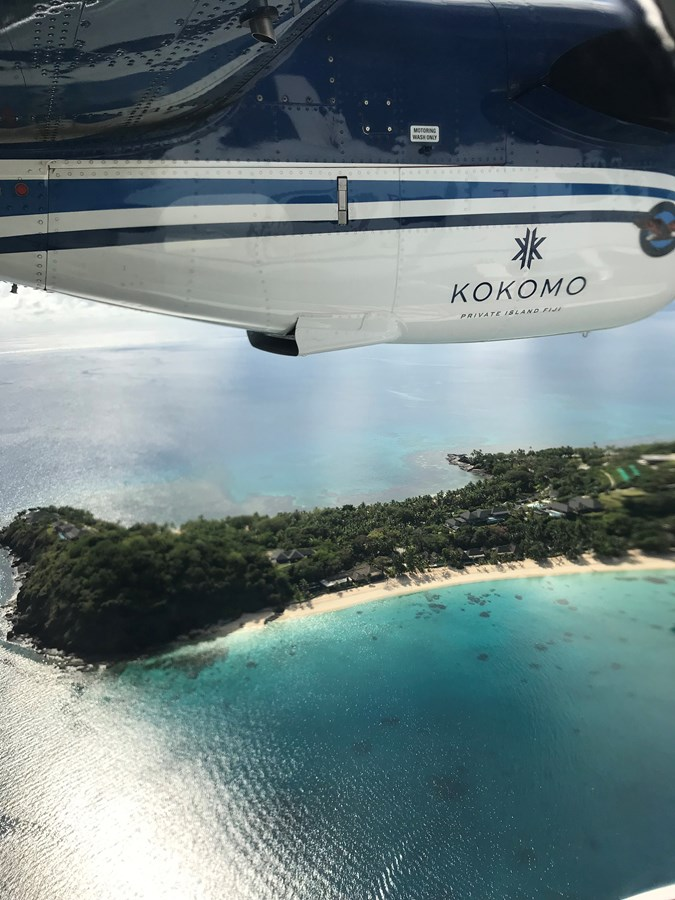Sea plane over Kokomo Island