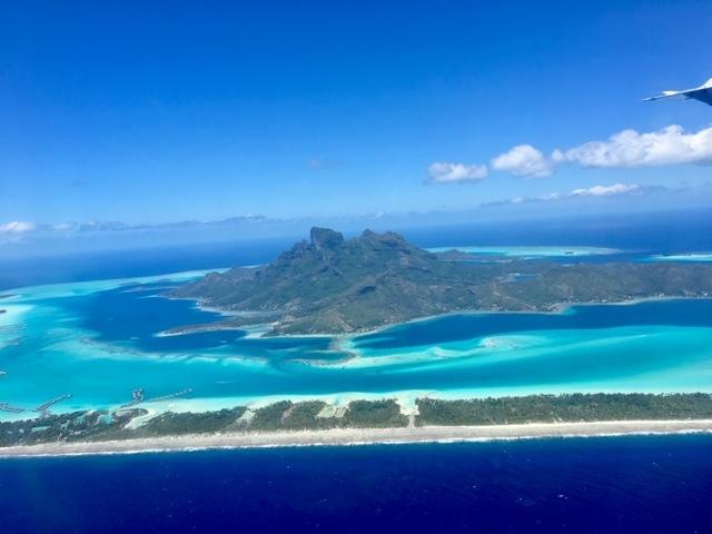 Touching down to Bora Bora