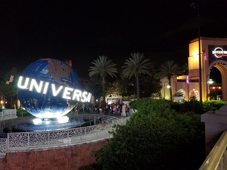 Universal Entrance at Night