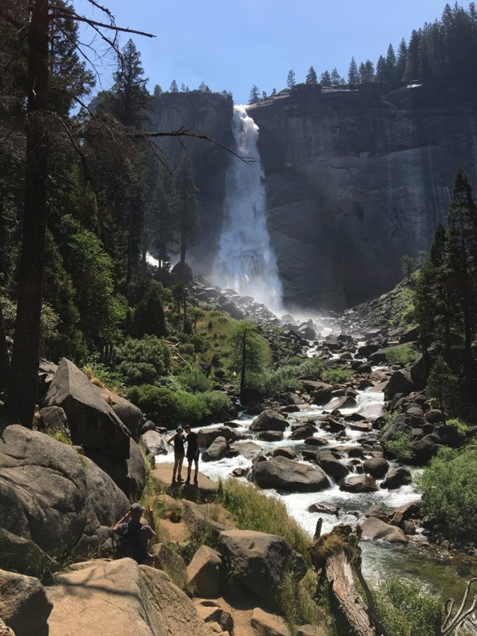 Awesome view of Nevada Falls