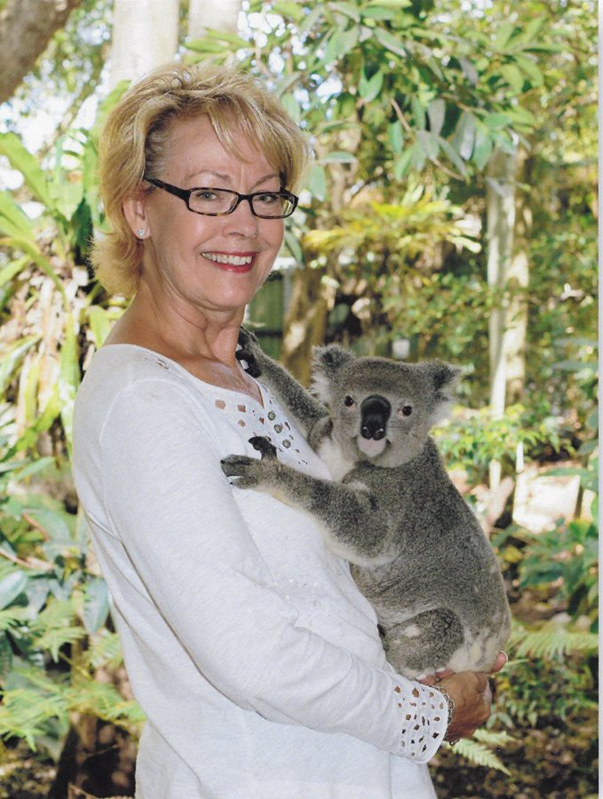 Making friends with a koala!