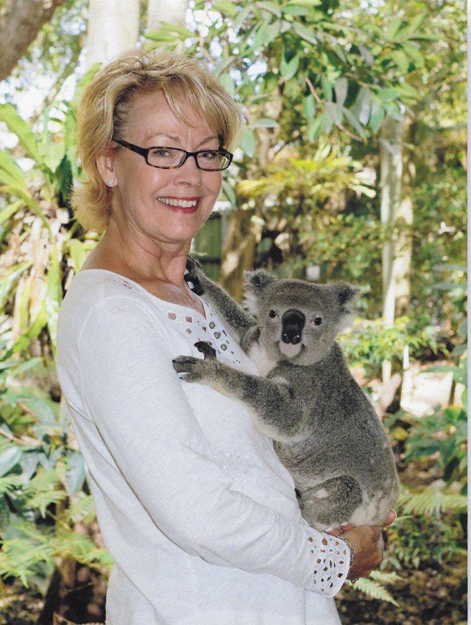 Making friends with a koala!