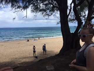 Hitting the beach on the north side of Maui.