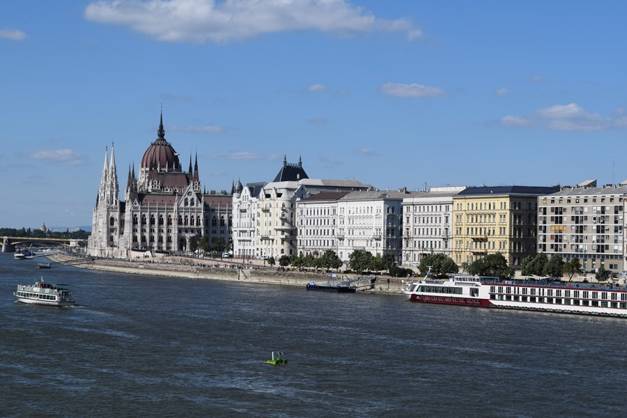 Riverboats on the Danube in Budapest