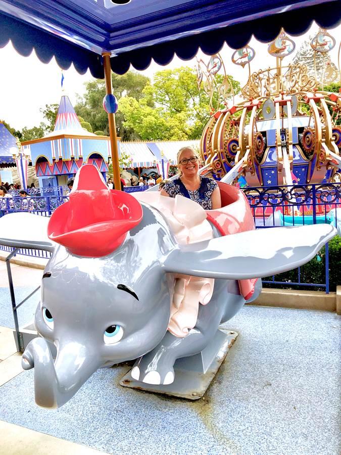 Ride Dumbo for great views of Fantasyland!