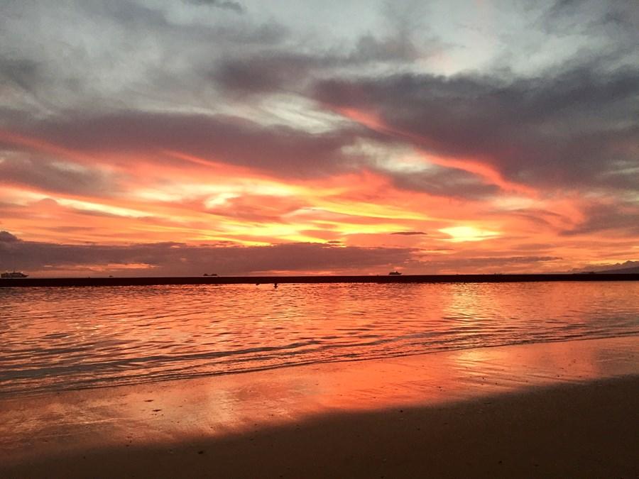 My first Hawaiian sunset