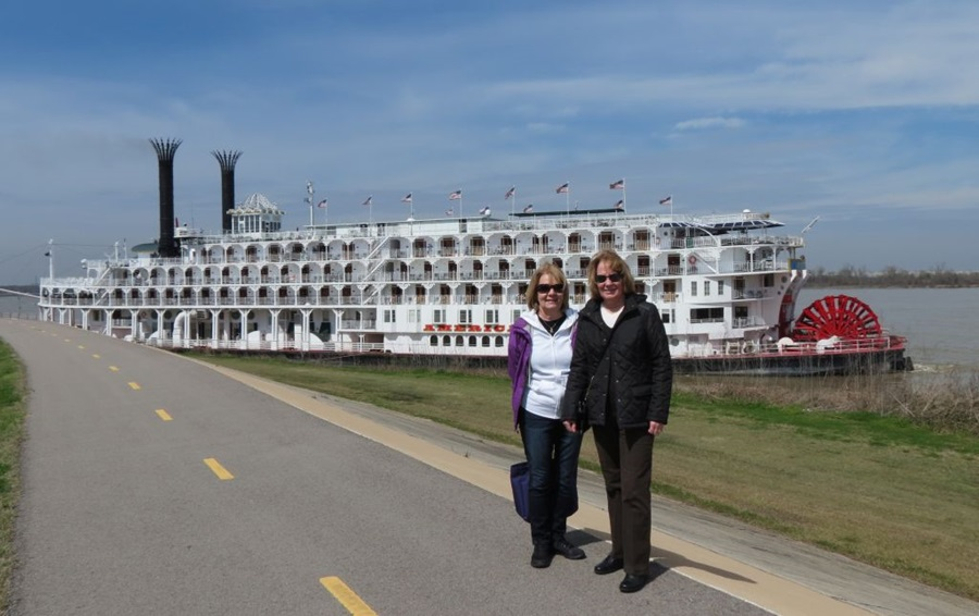 Sharry & Debbie in front of American Queen
