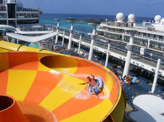 Cruise Ship Water Slide