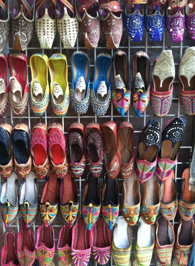 Shoe Souk in Old Dubai.