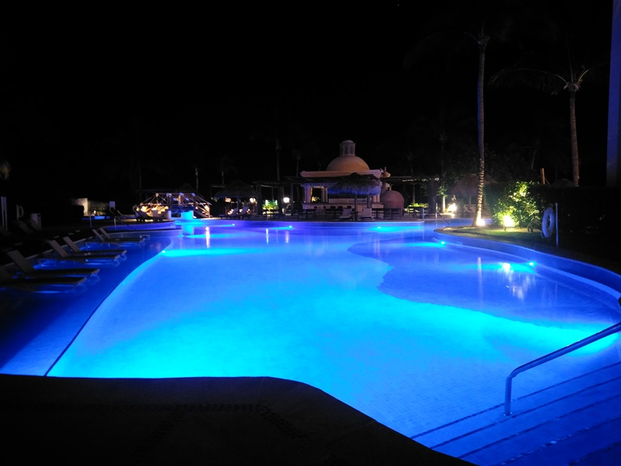 Excellence Riviera Cancun Main Pool at Night