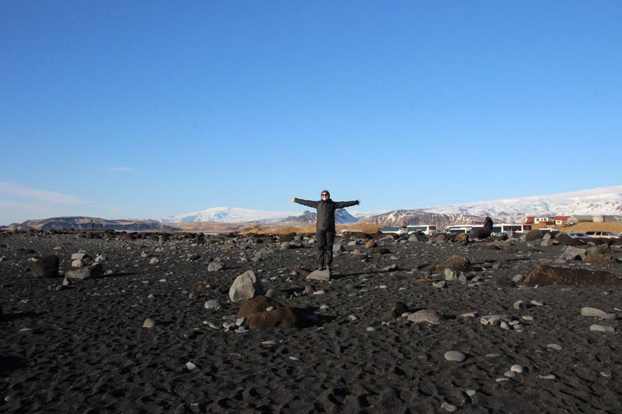 Black sands of Reynisfjara beach