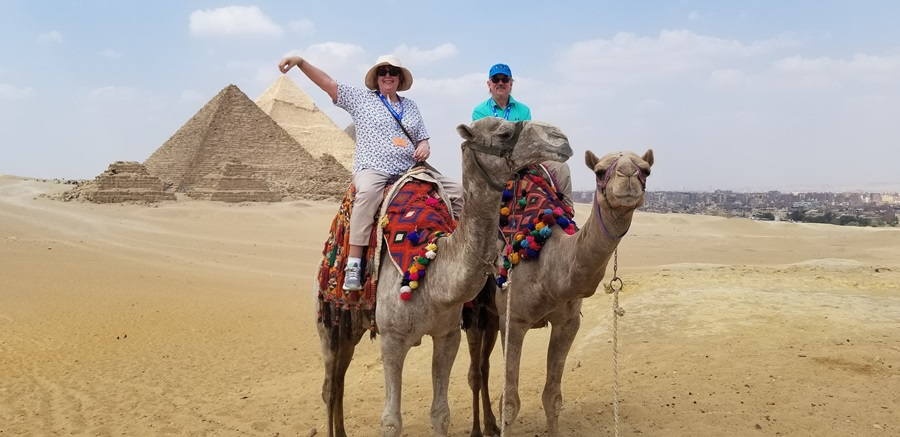 Exploring the Pyramids in style