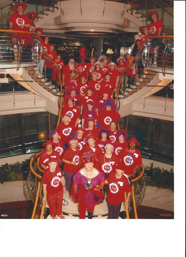 Red Hatters on a cruise!