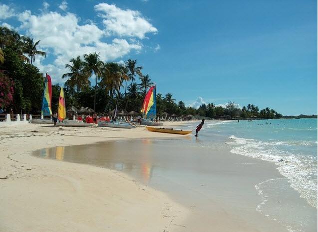 Windsurfing in Caribbean