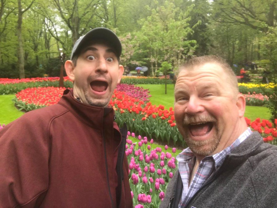 Visiting the tulips!