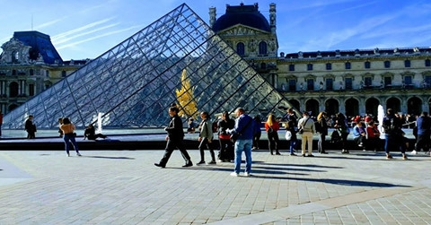 I M Pei's Entrance to the Louvre