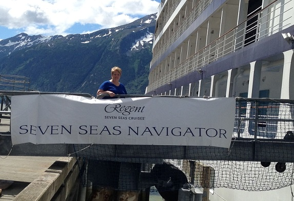 Aboard Regent Seven Seas in Alaska