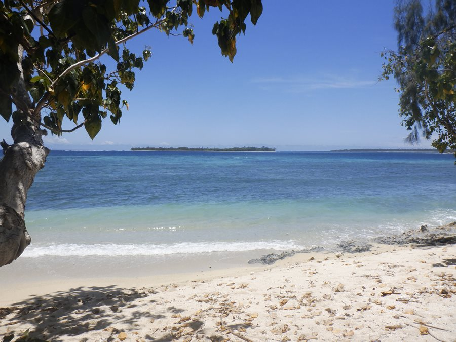 Lifou with Duck Island in the distance