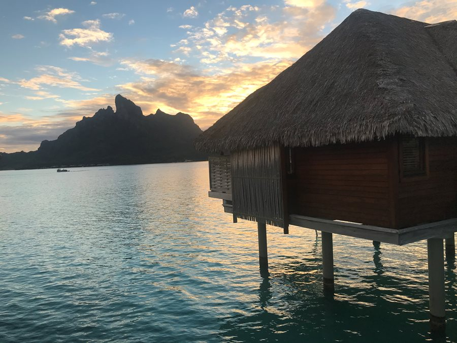 My overwater bungalow at Four Season Bora Bora