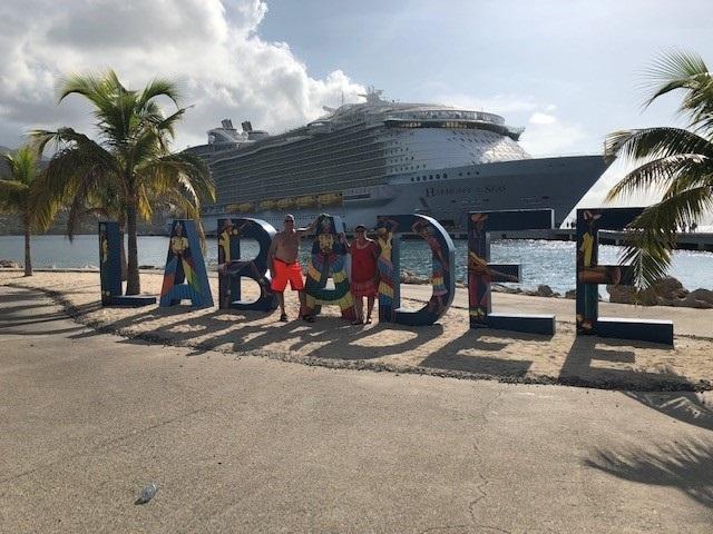Harmony of the Seas docked at Labadee