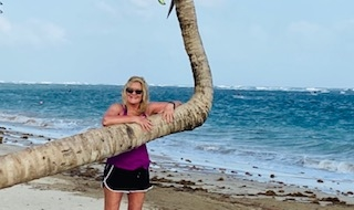 Me on the beach of St.Lucia