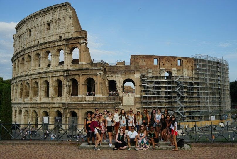Always constructions at the Colosseum