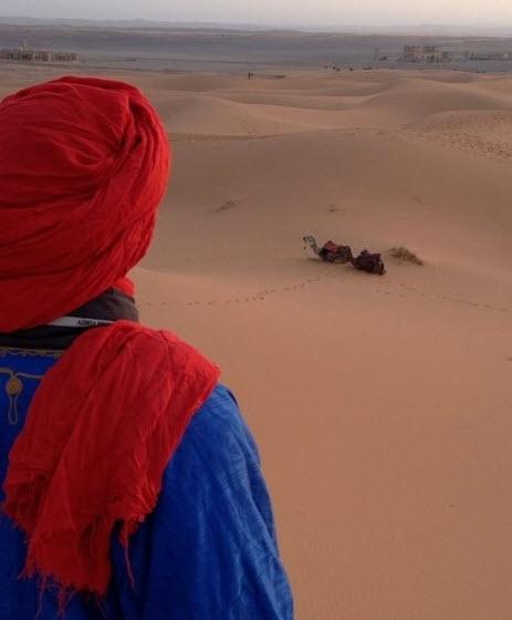Overlooking the African Desert