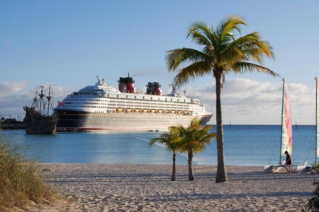 Disney Ship anchored in Exuma