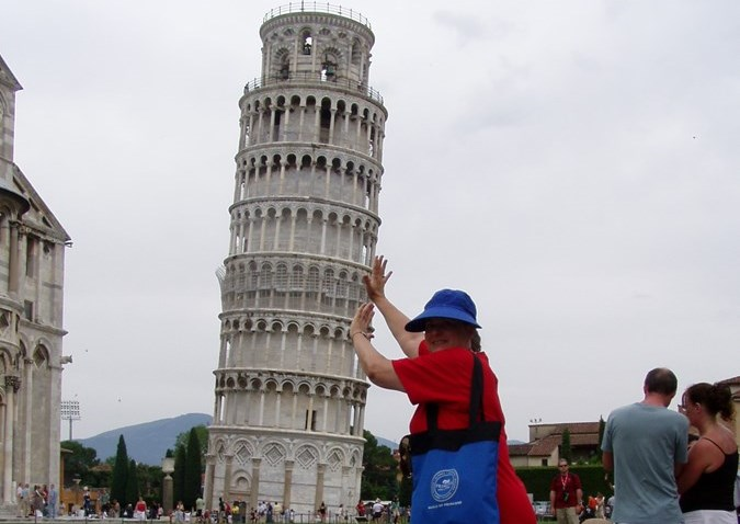 Mary Lynn fixes Leaning Tower problem
