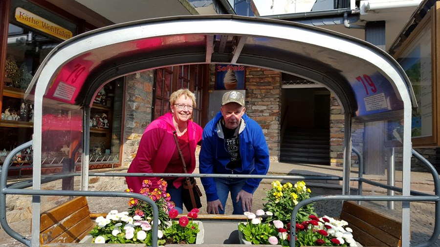 LouAnn & Larry Covi in Germany on the Rhine River