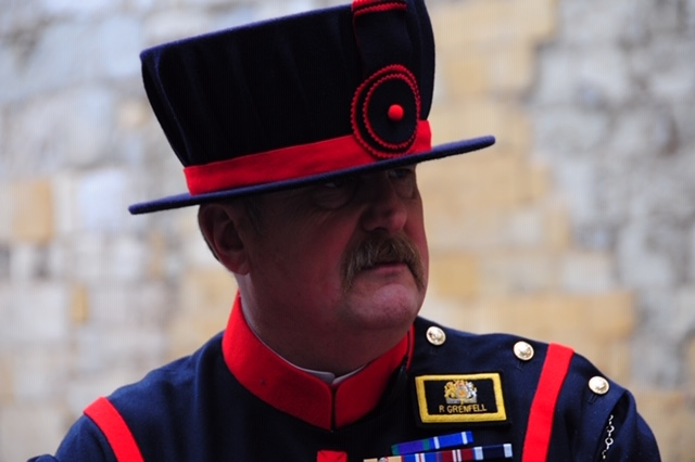 On duty at the Crown Jewels