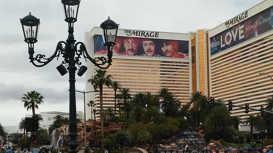 Mirage across street from Palazzo